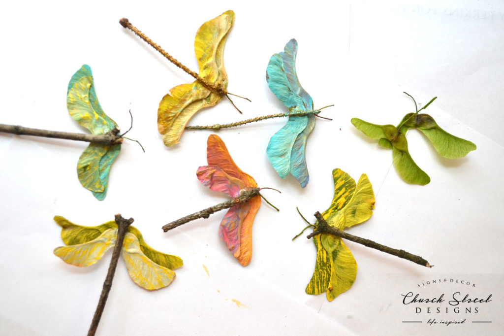 Maple Seed Dragonflies