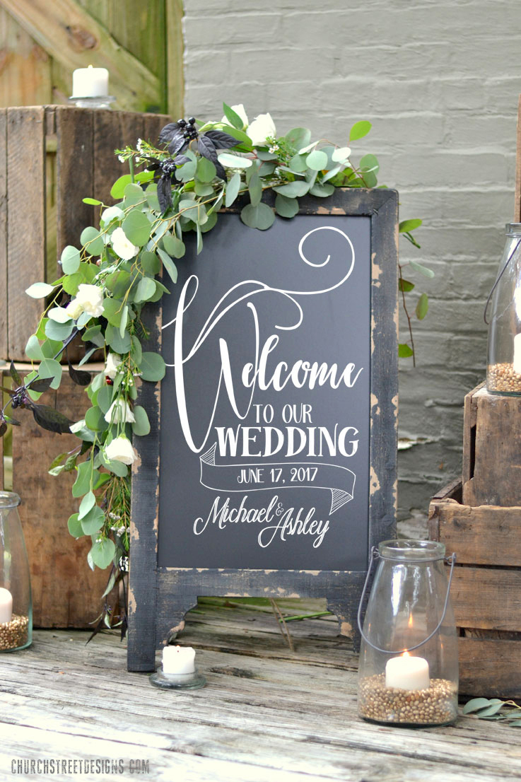 Welcome to our Wedding Chalkboard – Church Street Designs